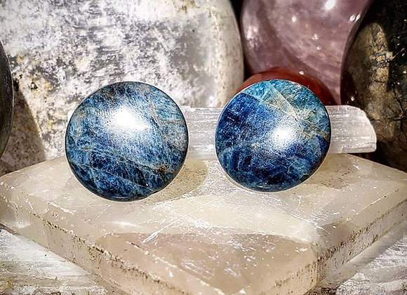 Apatite Disk Earrings