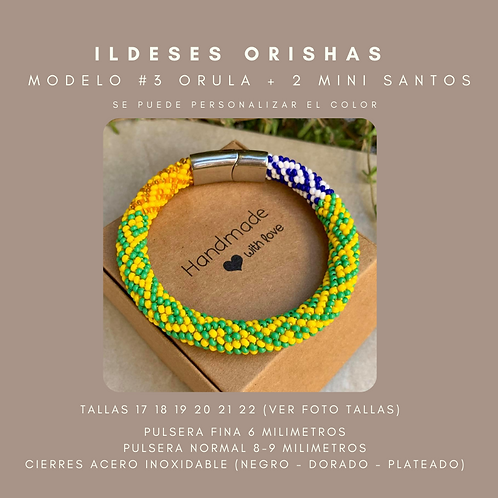 MODELO #3 IDDE, ILDE, PULSERA ORULA + 2 MINI SANTO