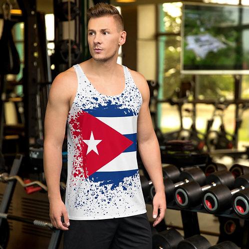 camiseta unisex con la bandera cubana