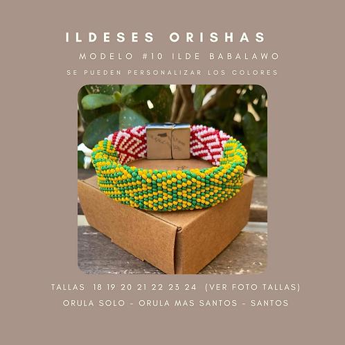 MODELO #10 IDDE, ILDE, PULSERA DE BABALAWO