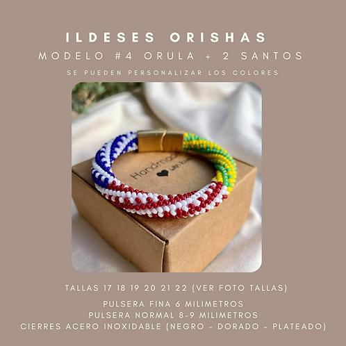 MODELO #4 IDDE, ILDE, PULSERA ORULA + 2  SANTOS