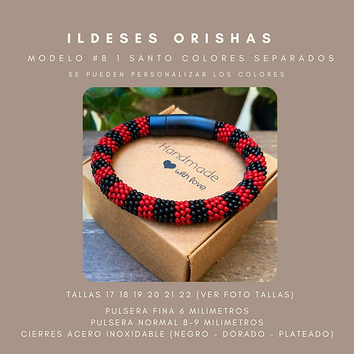 MODELO #8 IDDE, ILDE, PULSERA 1  SANTO COLORES SEPARADOS