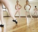 A beginning ballet class.