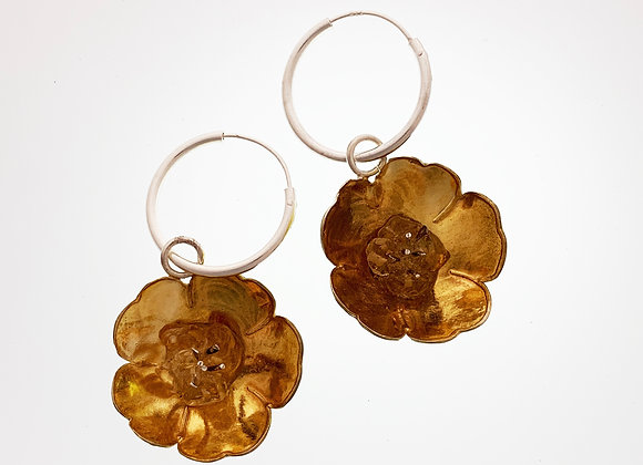 Buttercup earrings with citrines