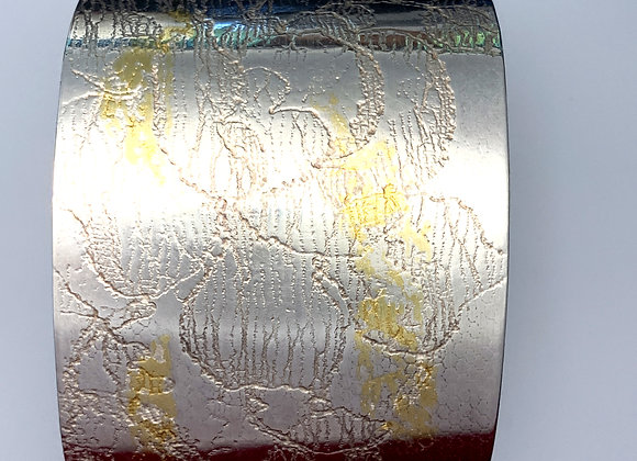 Grass snake silver and gold cuff