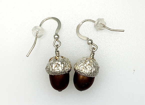 Large acorn earrings