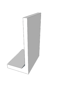 Mauerwinkel Sichtbeton grau glatt 12 cm Wandstärke Lastfall 1-3