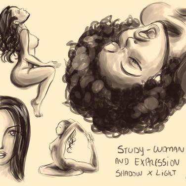Study - Woman body and expression - Shad