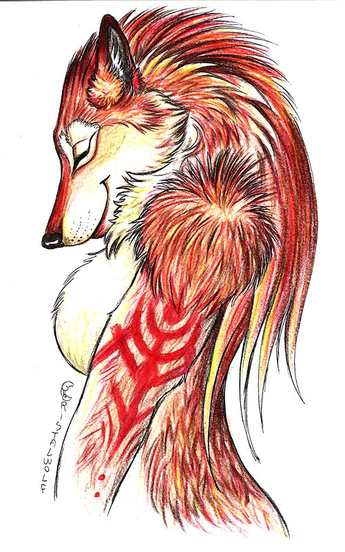 redhairwerewolf-shewolf-bycristalwolf we
