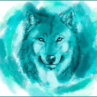 Blue Wattercolor Wolf by cristalwolf.jpg