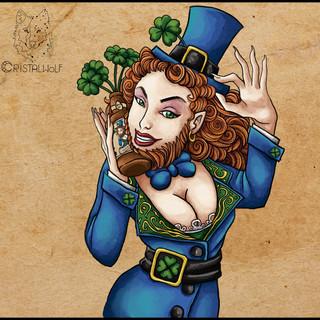 Lady Blue girls Irish Red  by Cristalwol
