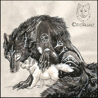 Mother Wolf - Grimorio - by Cristalwolf.