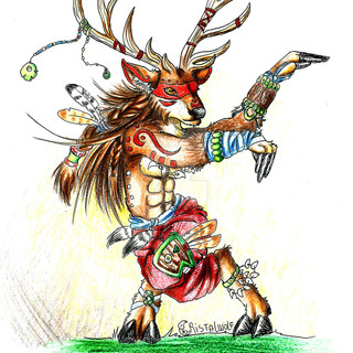 estelin_s_warrior_deer_by_cristalwolf-d9