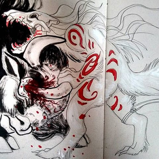 No mercy. #sketch #sketchbook #art #anim