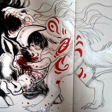 No mercy. #sketch #sketchbook #art #anim