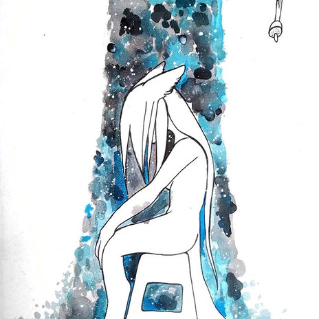 Washing my pain... #therianthropy #art #