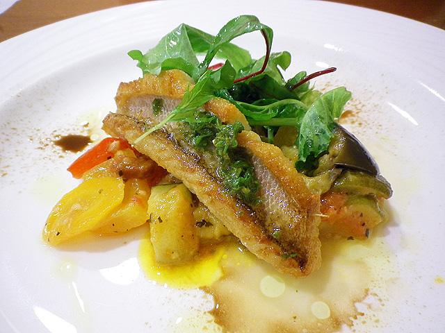 地物白身魚のソテー