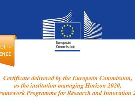 Recibimos el certificado de calidad de la Comisión Europea