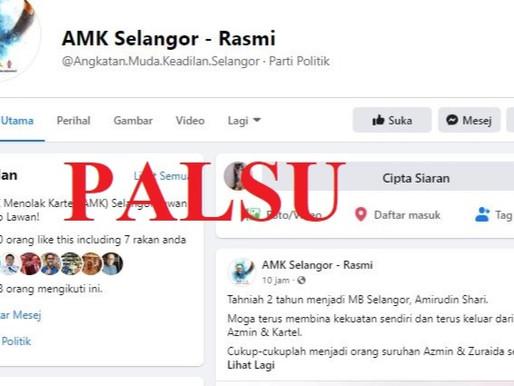 Awas akaun facebook palsu AMK Selangor