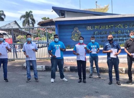 Sogok Ku Li jawatan: AMK Johor buat laporan polis