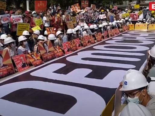 Myanmar: Tentera kepung Yangon, tunjuk perasaan berterusan