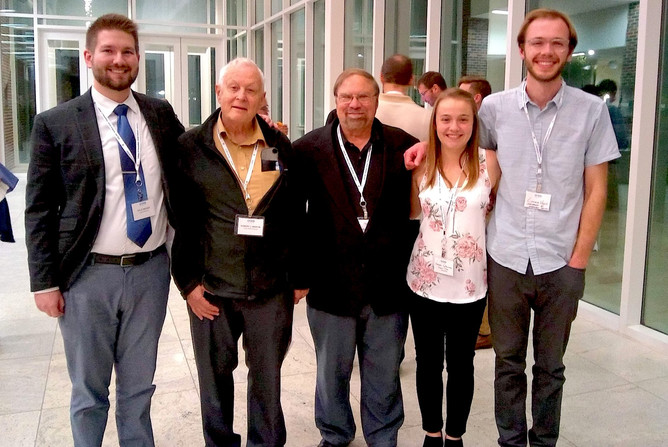 Composers and performers representing Truman State University at the 2019 Society of Composers, Inc. Division VI conference in Commerce, Texas.  From left to right: Kyle Rieger, Dr. Robert Martin, Dr. Warren Gooch, Hannah Gallamore, and Conner Viets
