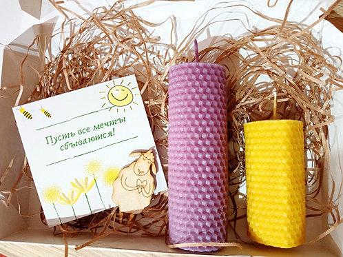 Натуральные свечи из пчелиного воска,набором или поштучно