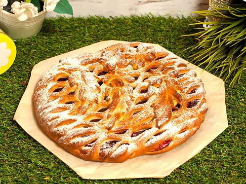 Пирог с малиной,1кг.