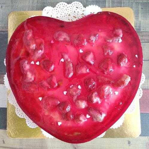 """Клубничный тарт """"сердце"""", 1 кг."""