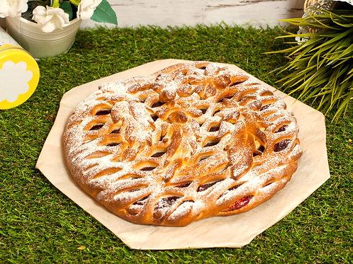 Пирог с яблоком и вишней,1кг.