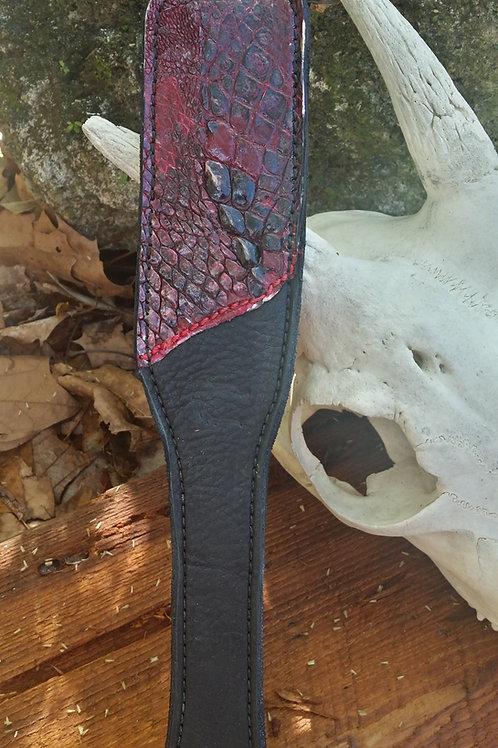 BDSM Alligator paddle, The red devil