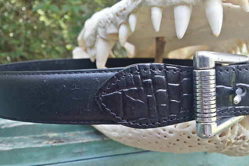 Alligator Skin and Leather Belts