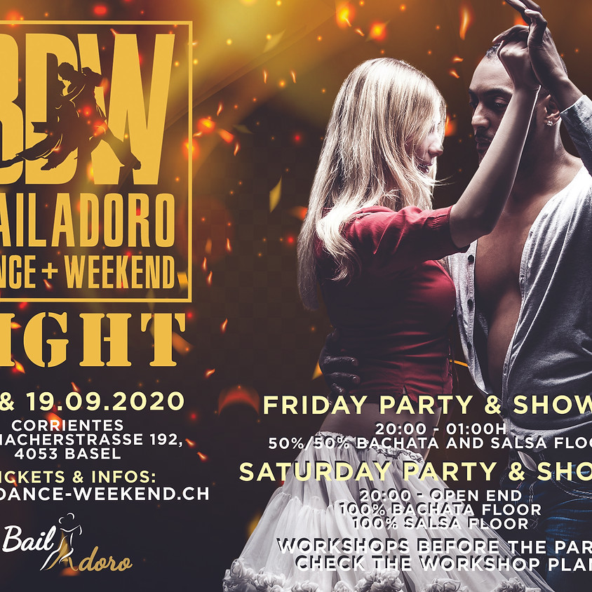 Saturday - LIGHT - BailAdoro Dance+ Weekend - Party, Shows and Workshops