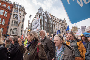 Brexit march, London, 2019  One million protesters march through London to demand a second referendum.
