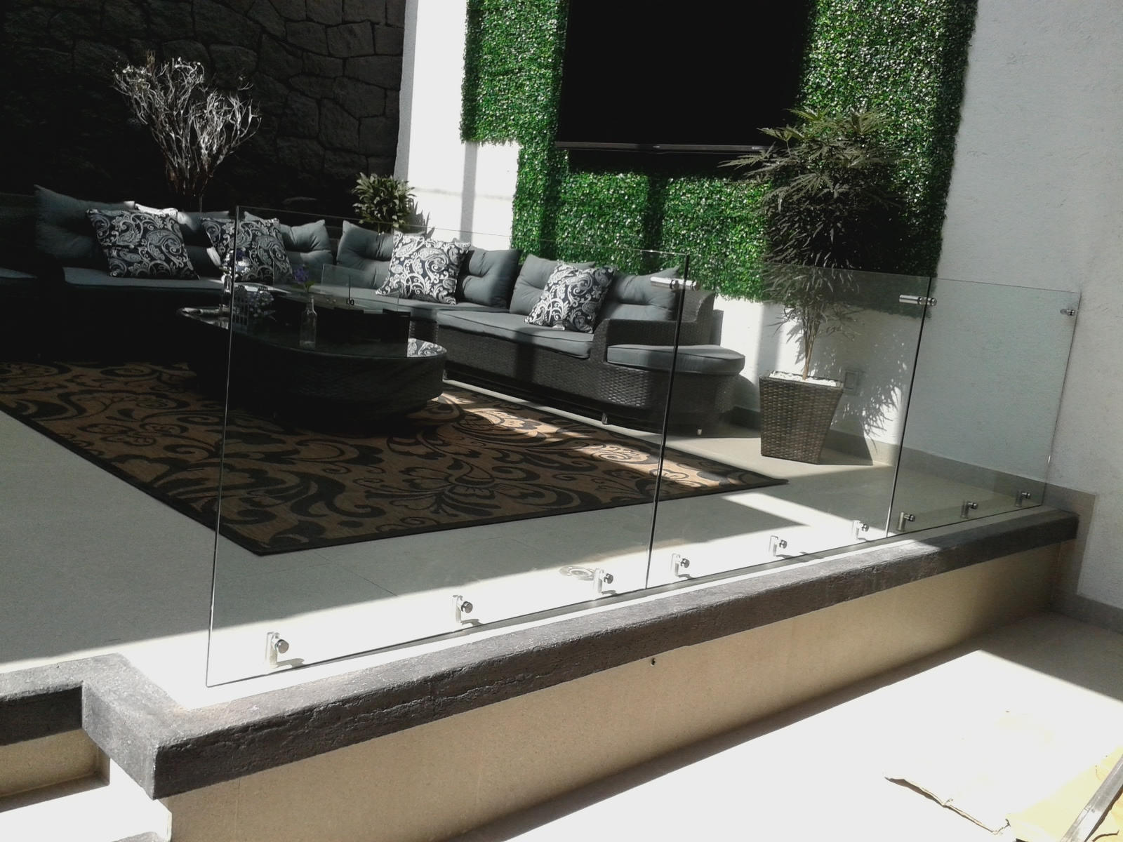 Barandales vidrio Templado