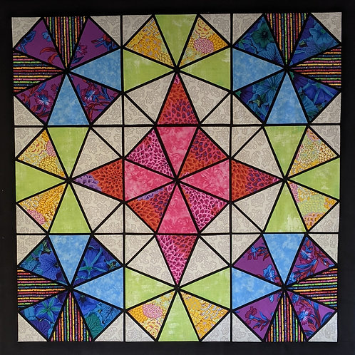 Stained Glass Kaleidescope Fabric Kit