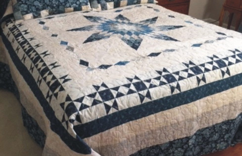Robin Pyer's Lonestar and Diamonds quilt