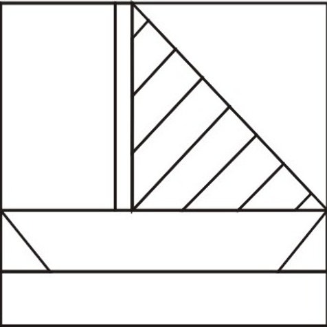 "Striped Sailboat 8"" Foundations 16/pkg"