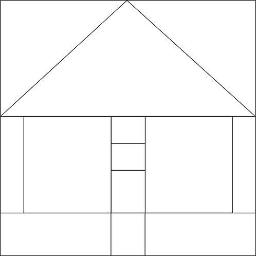 "Bird Pole House Blocks 6"" 6/pkg"