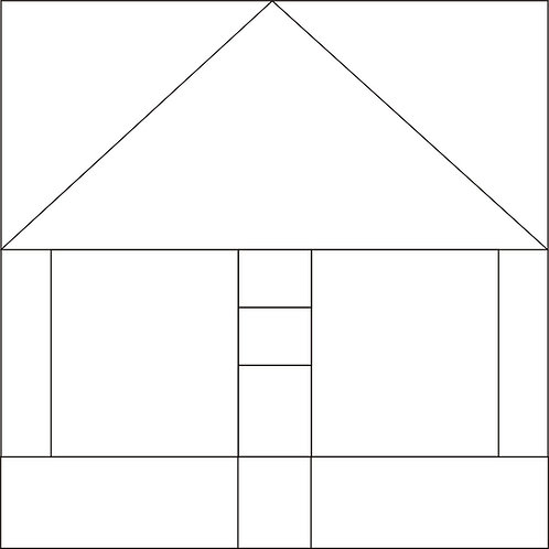 "Bird Pole House Blocks 8"" 6/pkg"