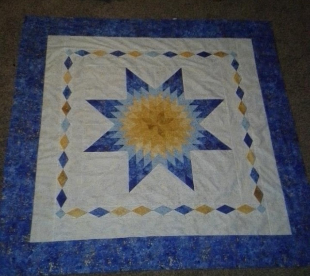 Karen Eichler's Lone Star and Diamonds quilt