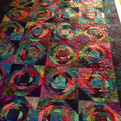 Pineapple Scrappy Quilt (24 blocks)
