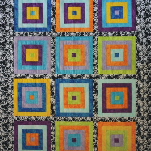 Courthouse Steps Throw Quilt Pattern