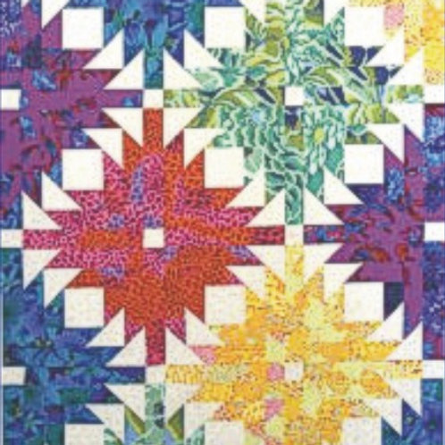 """Pineapple Blossom King/Queen 104"""" x 104"""" Fabric Kit"""