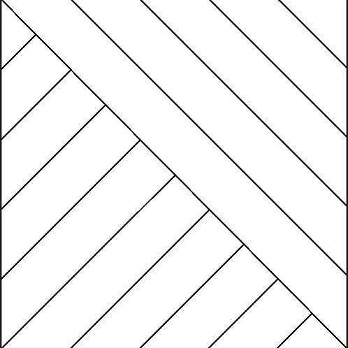 "Opposing Diagonal Block 8"" 16/pkg"