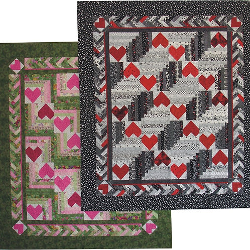 Heart In The Cabin Quilt Pattern