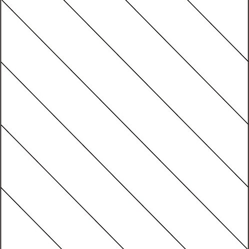 Diagonal Stripe Block 8-inch 16/pkg