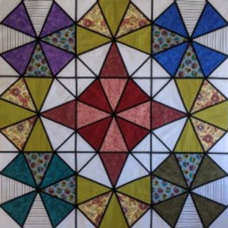 Stained Glass Kaleidescope Quilt
