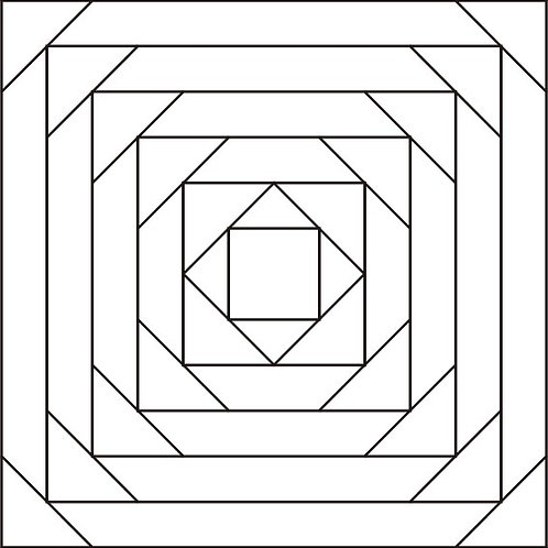 "Pineapple Block Design #2 - 12"" 6/pkg"