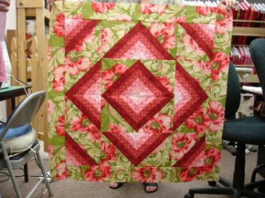 Kathi Corya's Caesar's stripes quilt
